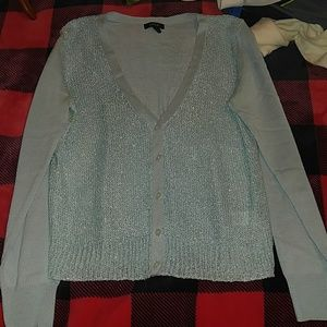 Light blue sequence sweater apt 9 small